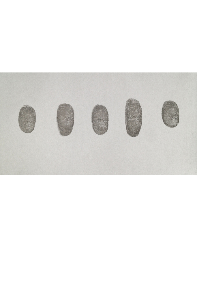 Five Thumb Prints Of A Famous Artist