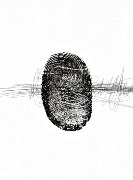 Partially Obscured Thumb Print Of Pangloss