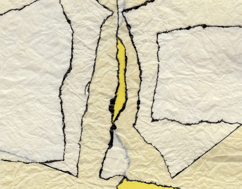 Abstract Collage in Yellow, crop