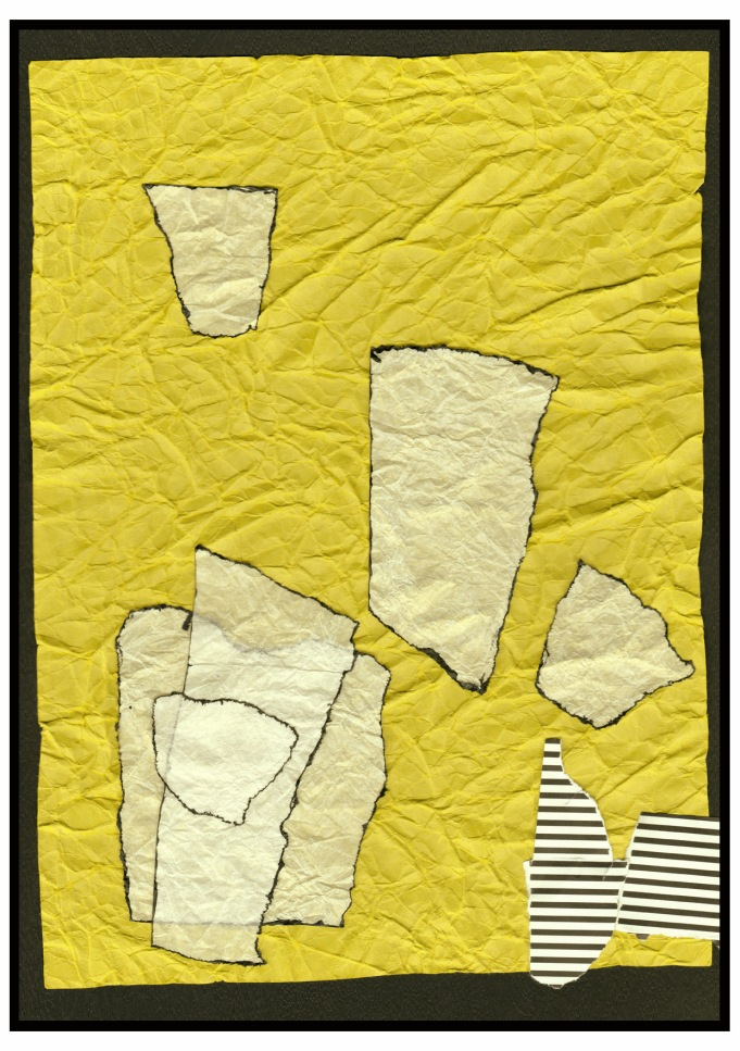 Abstract Collage in Yellow II s2