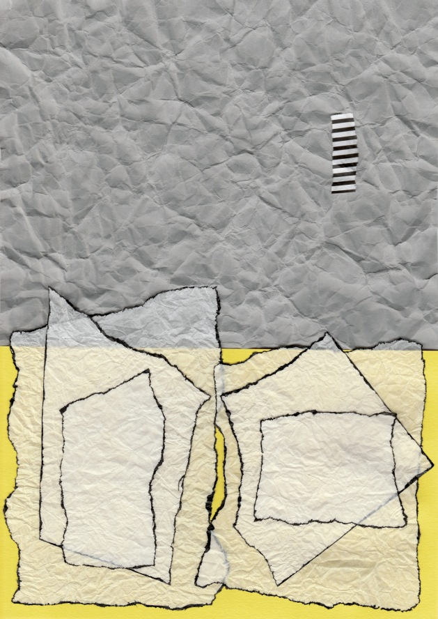 Abstract Collage in Yellow