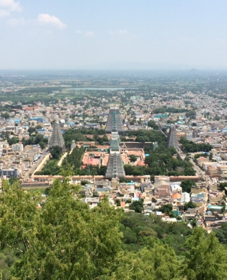 SHIVA TEMPLE THIRUVANNAMALAI TAKEN FROM ARUNACHALA