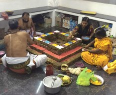 PUJA PREPARATIONS AT THE THIRU TEMPLE