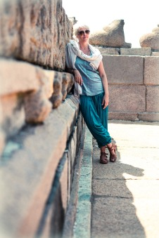 ME by KHARTHIK at MAHABALIPURAM SHORE TEMPLE