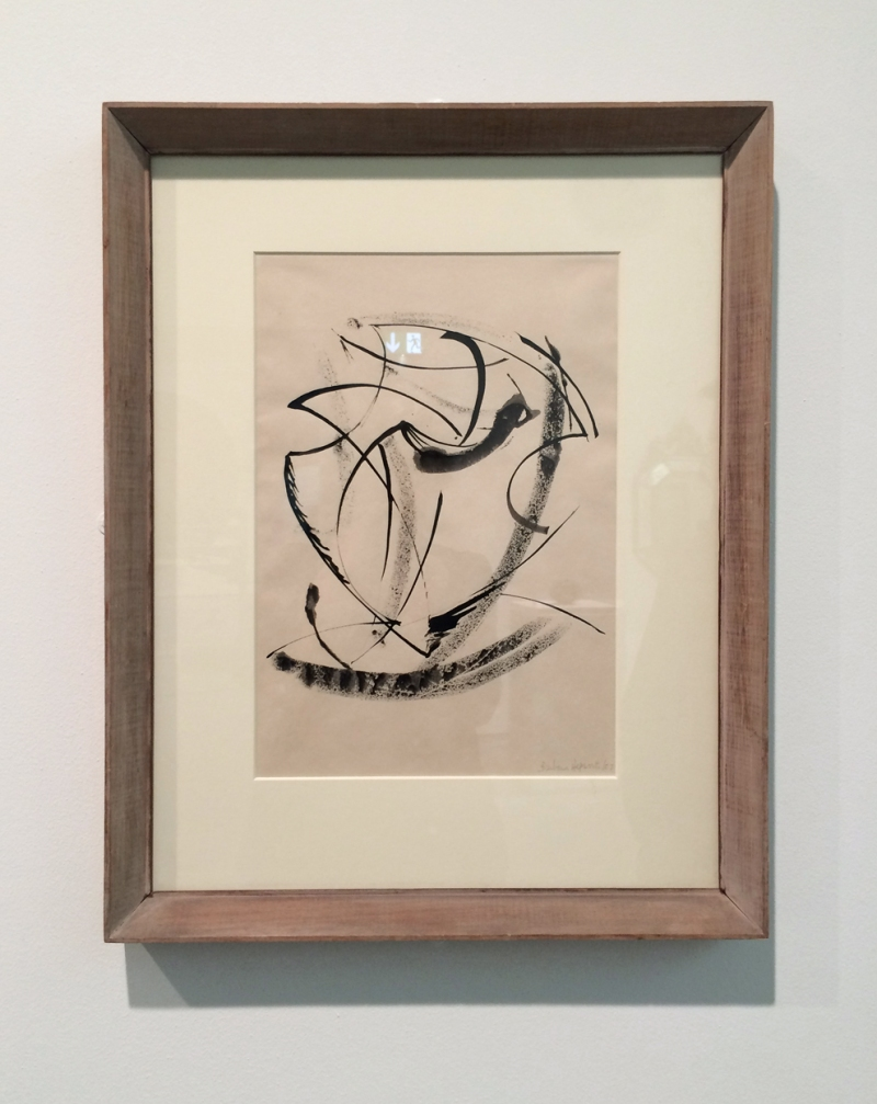 Barbara Hepworth, Turning Form 1957, ink on paper